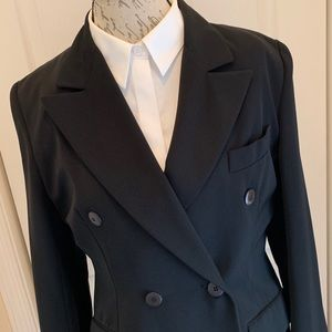 🎈🎈Black Long Double Breasted Light Weight Coat